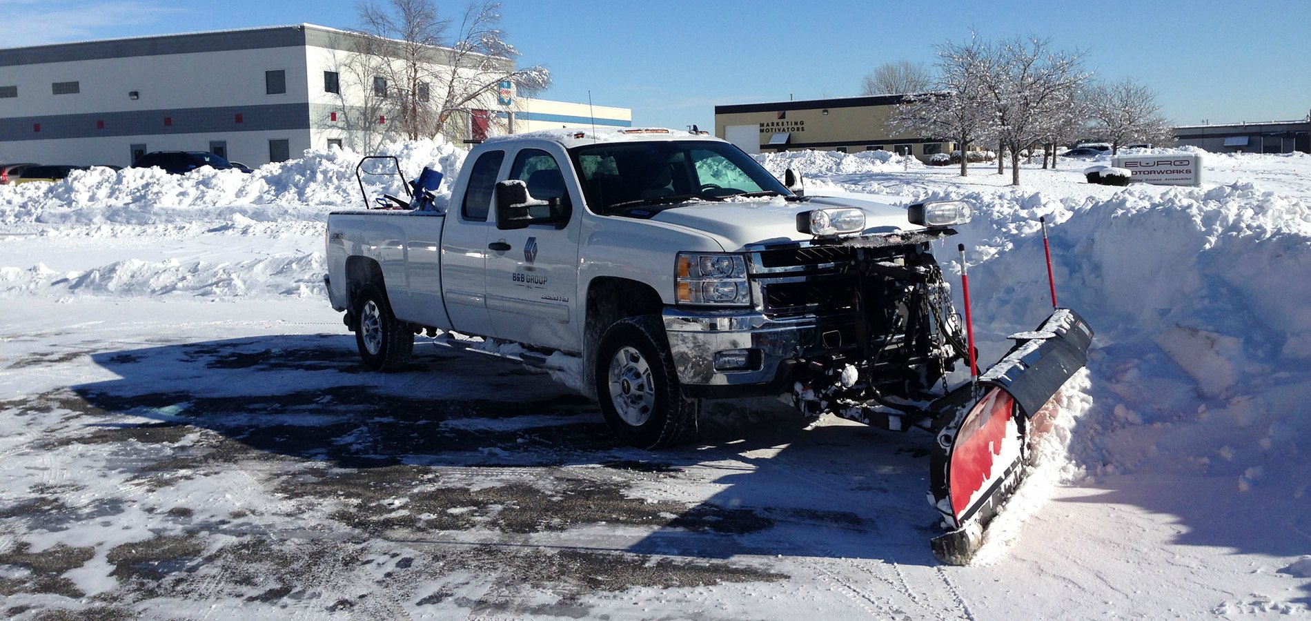 SNOW REMOVAL INDIANAPOLIS: B&B Group Inc. Snow Plow Truck