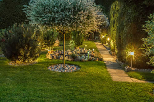 Landscape Lighting - Garden Path Lights - Outdoor Lighting Design - B&B Group, Indianapolis IN
