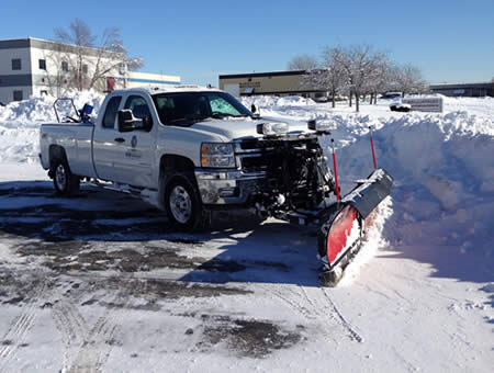 Snow and Ice Management: B&B Group snowplow